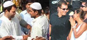 Rahul Gandhi in skull cap
